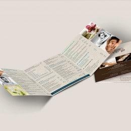 Plaquette tarifaire création print