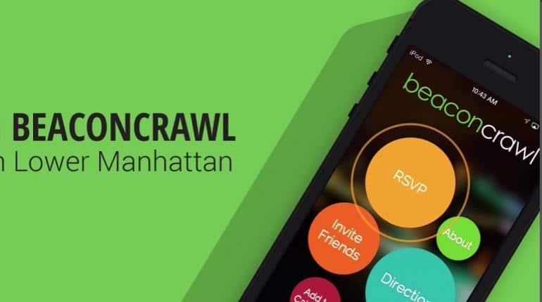 Beaconcrawl application beacon retail