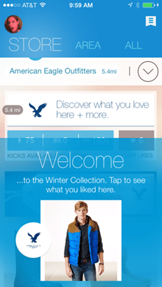 American Eagle application beacon